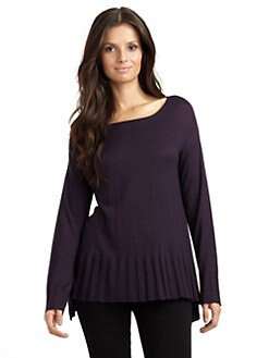 Kokun - Pleated Hem Pullover