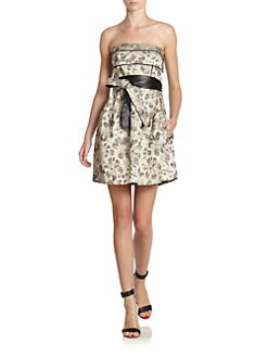 Cynthia Steffe - Willow Belted Brocade Dress