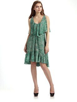Cynthia Steffe - Carey Silk Chiffon Flounce Dress