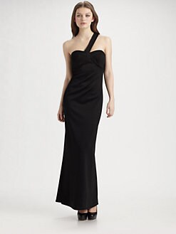 ABS - Seamed One Shoulder Dress
