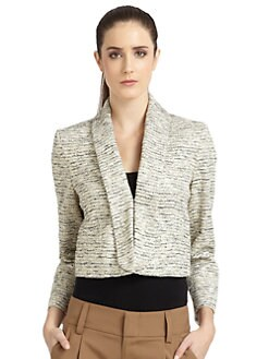 Alice + Olivia - Metallic Woven Blazer