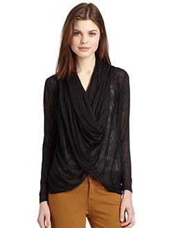 Alice + Olivia - Draped Burnout Top