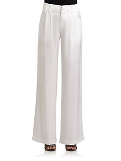Alice + Olivia - Satin Wide Leg Pants