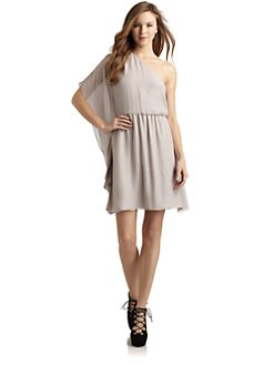 Alice + Olivia - Chiffon Draped Sleeve Dress
