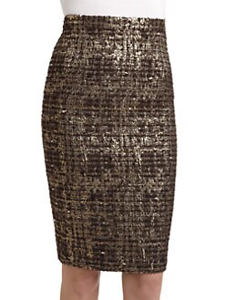 Alice + Olivia - Simpson Woven Pencil Skirt