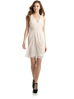 Alice + Olivia - Chiffon Draped Cocktail Dress