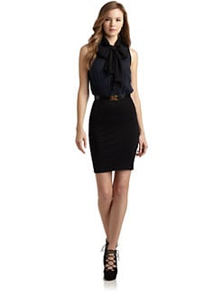 Alice + Olivia - Jada Tie Neck Dress