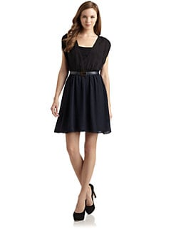 Alice + Olivia - Beckham Lace Bodice Dress