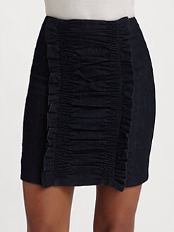 Leifsdottir - Dark Denim Ruffle Skirt
