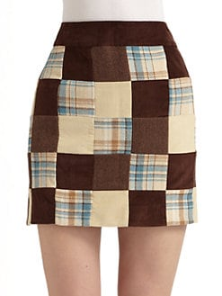 Vineyard Vines - Corduroy Patchwork Mini Skirt