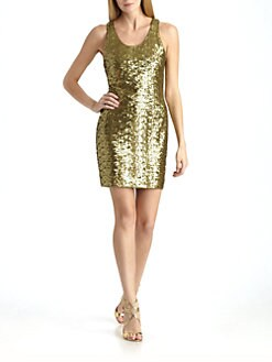 Alice + Olivia - Sequined Tank Dress