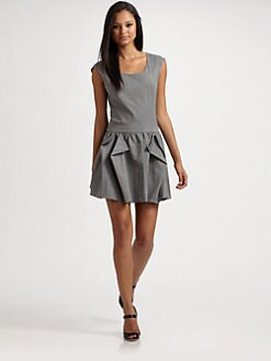 Geren Ford - Open Pleat Dress/Grey