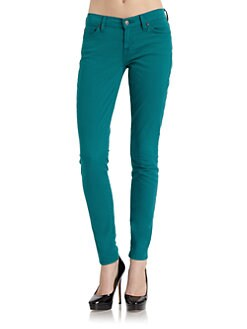 7 For All Mankind - Gwenevere Skinny Leg Denim Jeans/Rich Emerald