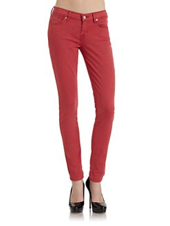 7 For All Mankind - Gwenevere Skinny Leg Denim Jeans/Cherry Red