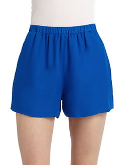 Gar-De - Pull-on Silk Crepe Shorts