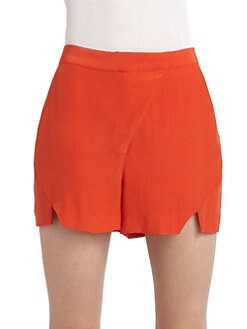 Gar-De - Notch-Front Silk Shorts