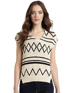 Gar-De - Zigzag Stripe Sweater Top