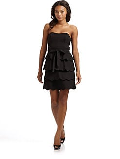 Cynthia Steffe - Caroline Strapless Scallop Dress/Black