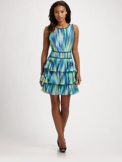 Cynthia Steffe - Aurelia Tiered Print  Dress