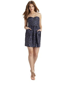 Rebecca Taylor - Quilted Silk Tea Dress