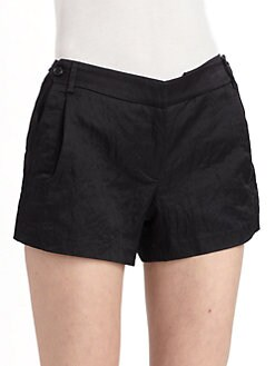 Elizabeth and James - Pleated Shorts/Black