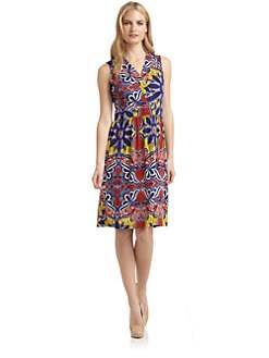 Nieves Lavi - Dalia Silk Knit Sleeveless Dress
