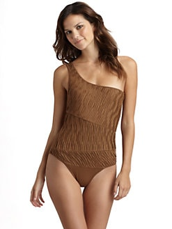 Torn - Jane Ruched Body Suit/Brown