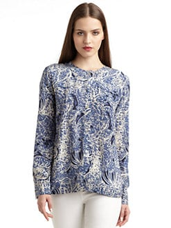 Thakoon Addition - Paisley Silk Swing Blouse