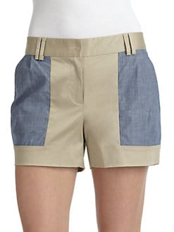 Thakoon Addition - Poplin & Denim Shorts