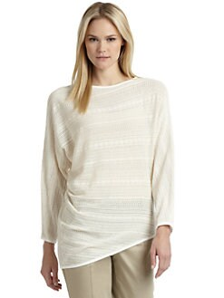 Thakoon Addition - Lacy Knit Asymmetrical Top