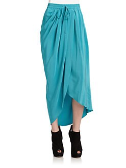 Thakoon Addition - Asymmetric Silk Mock Wrap Skirt