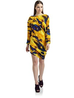 Thakoon Addition - Silk Satin Abstract Dress