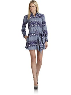 Thakoon Addition - Island- Print Wrap-Around Shirtdress