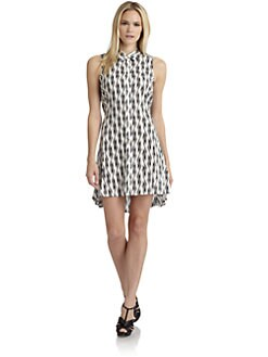 Thakoon Addition - Contrast-Print Tie-Back Shirtdress