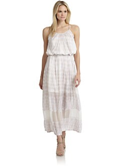 Thakoon Addition - Batik-Print Sheer-Paneled Sundress