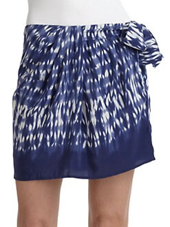 Thakoon Addition - Silk Batik-Print Sarong Mini Skirt