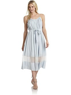 Thakoon Addition - Silk Sheer-Paneled Sundress