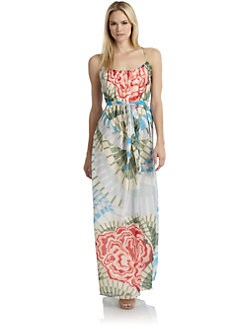 Thakoon Addition - Silk Floral Maxi Dress