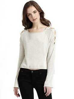 Rebecca Taylor - Knotted Cutout Shoulder Pullover