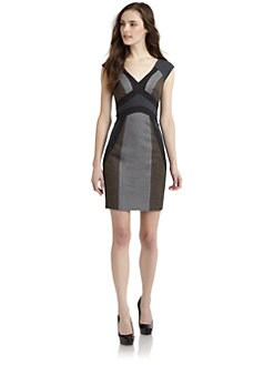 Rebecca Taylor - Flannel Mix Sheath Dress