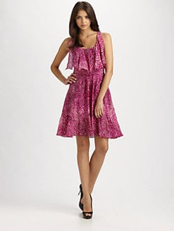 Cynthia Steffe - Carey Printed Silk Chiffon Dress