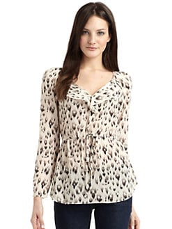 Rebecca Taylor - Silk Leopard Blouse