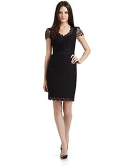 Rebecca Taylor - Lace Cap Sleeve Dress