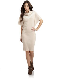 Qi New York - Casablanca Cashmere Dolman Sweater Dress