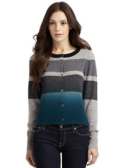 Qi New York - Sian Cashmere Striped Cardigan