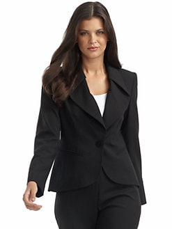 Lafayette 148 New York - Twist-Collar Wool Jacket