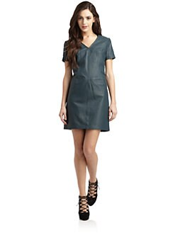 Cut 25 by Yigal Azrouel - Leather Chemise Dress
