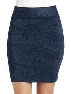 Cut 25 by Yigal Azrouel - Jacquard Power Knit Skirt