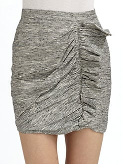 Whit - Raw Static Ruffle Silk Skirt
