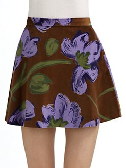 Whit - Poppy Print Mini Skirt